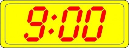 Digital Clock 9:00 clip art Clipart Graphic.