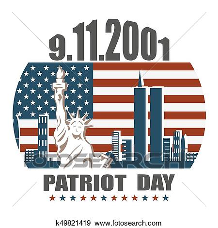 Patriot day, we will never forget Clip Art.
