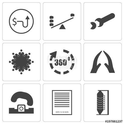 Set Of 9 simple editable icons such as silo, expiration date.