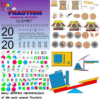 Fraction Bundle Clipart.