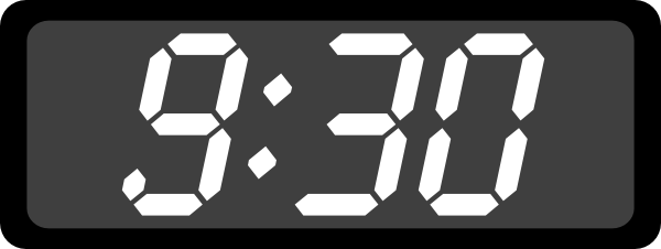Digital Clock 9:30 Clip Art.