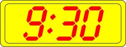 Digital Clock 9:30 clip art free vector.
