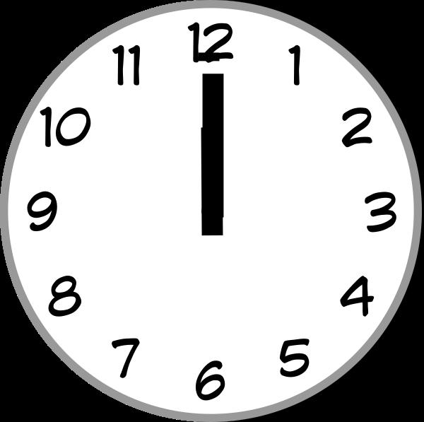 Noon Clock Clip Art at Clker.com.
