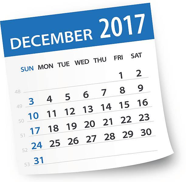 December Calendar Clipart.