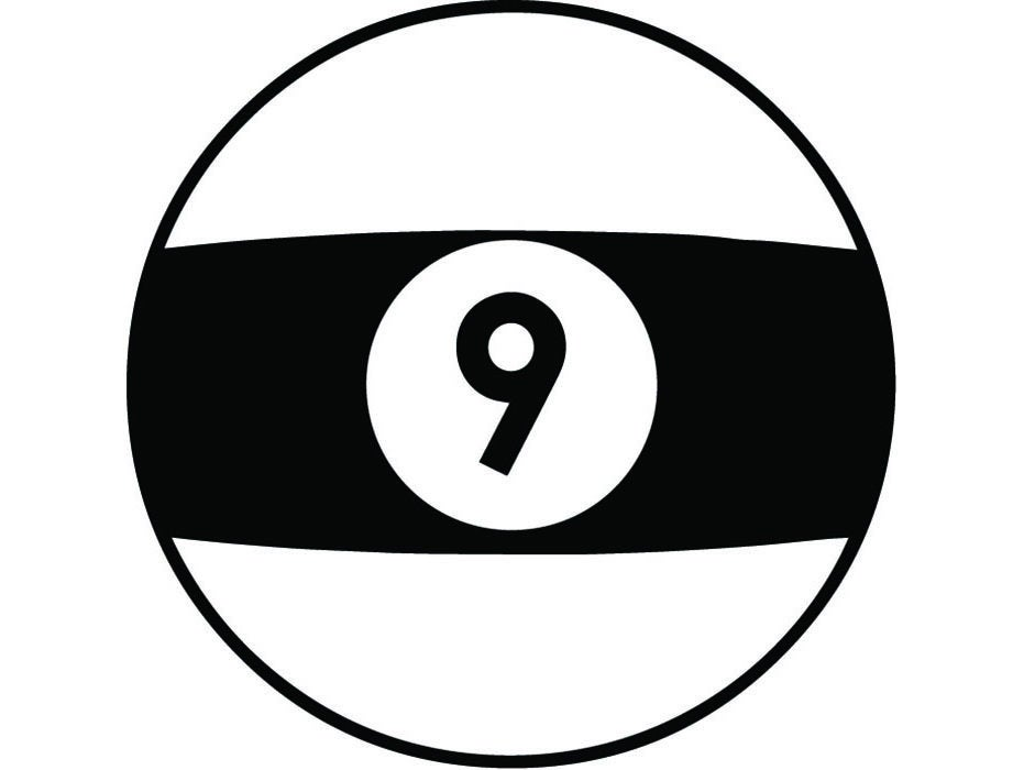Billiards Nine Ball #1 Billiards Eight 8 9 Ball Sports Pool Game Snooker  Table Competition Logo .SVG .PNG Clipart Vector Cricut Cut Cutting.