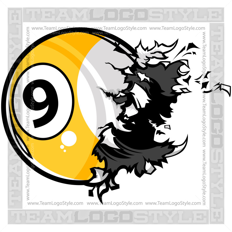 Nine Ball Exploding Clipart.
