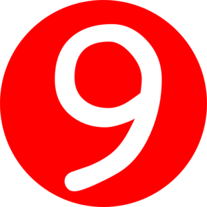 Number 9 clipart.