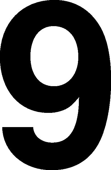 Black 9 Clip Art at Clker.com.