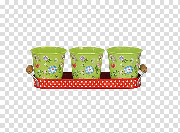 Files , three green floral buckets transparent background.