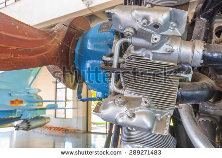9 cylinder radial engine clipart #10