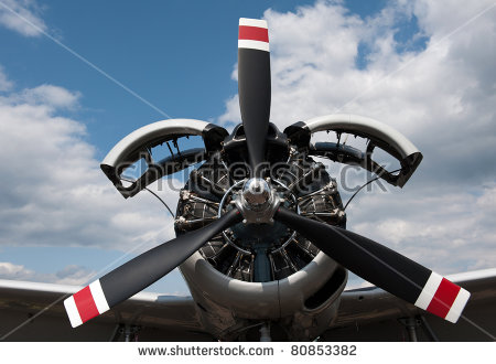 Radial Engine Stock Photos, Royalty.
