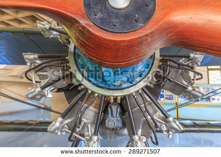 Free Detail of 9 cylinder Radial Engine of old airplane Photos.