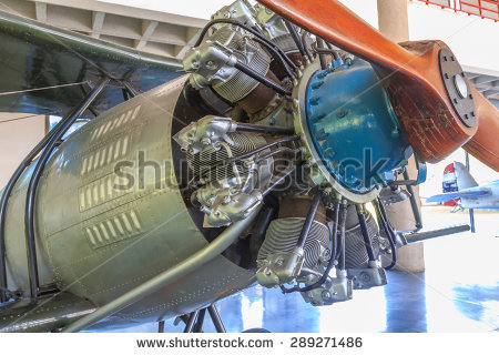 Radial Cylinder Engine Stock Photos, Royalty.