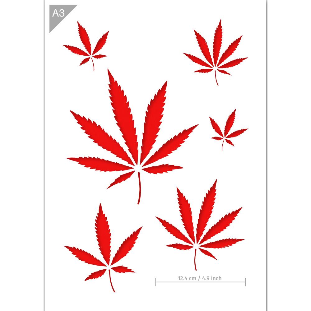Cannabis Stencil.