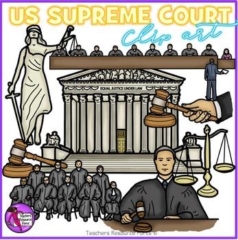 US Supreme Court clip art.