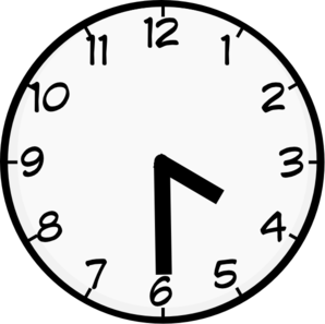 Half Past 4 Clip Art at Clker.com.