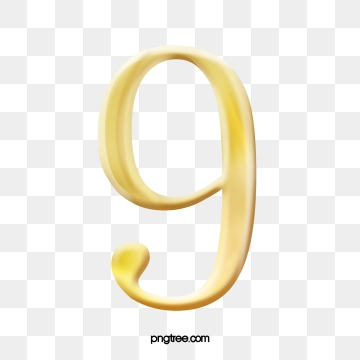 Number 9 PNG Images.