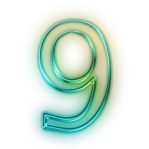 Number 9, Digits,Green, PNG, Transparent Clipart #7.