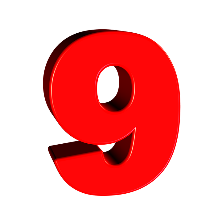 Number 9 PNG images free download, 9 PNG.