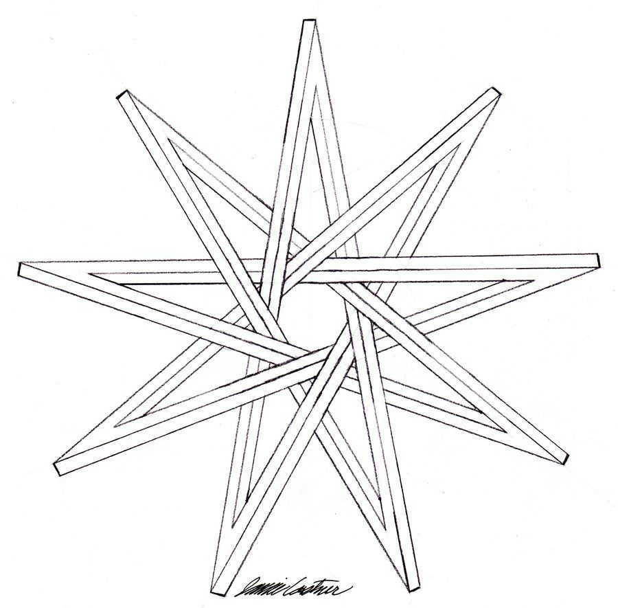 9 Sided Star.
