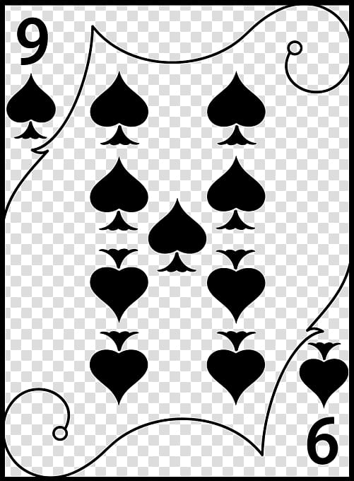 Spades playing card illustration transparent background PNG.