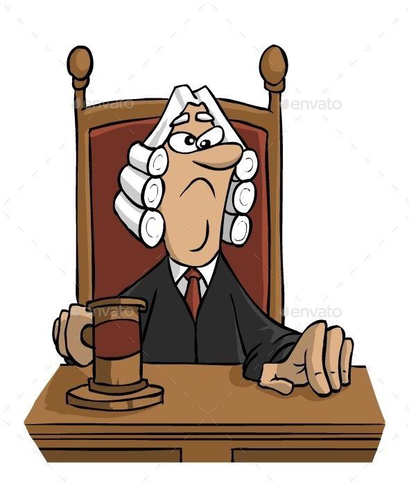 Download Free Graphicriver Cartoon Judge #cartoon #character.