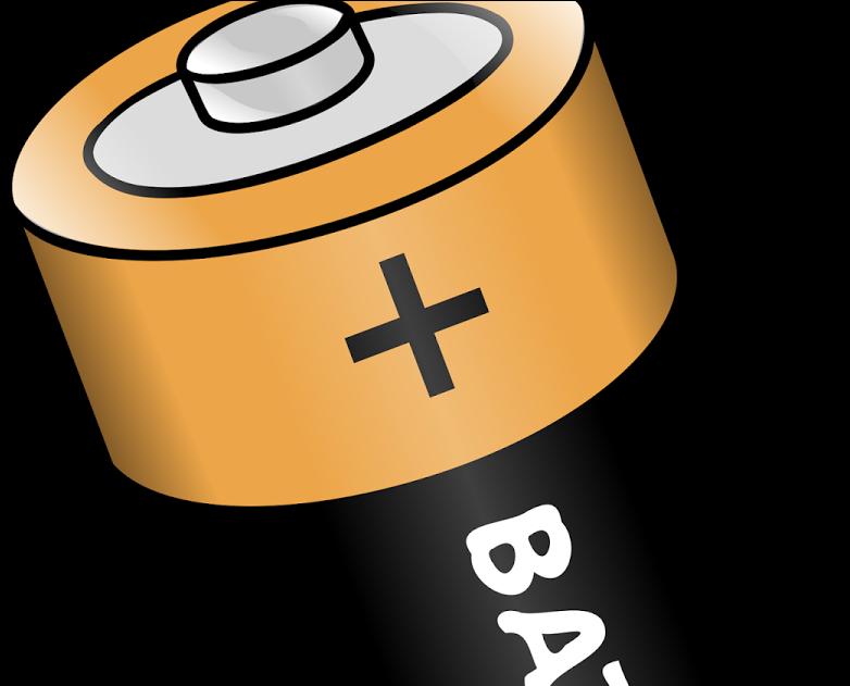 Clipart Cartoon Battery.