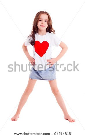 9 Year Old Girl Smiling Clipart.