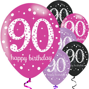 happy 90th birthday clipart 90 pink sparkling celebration.