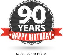 90 Birthday Clipart.