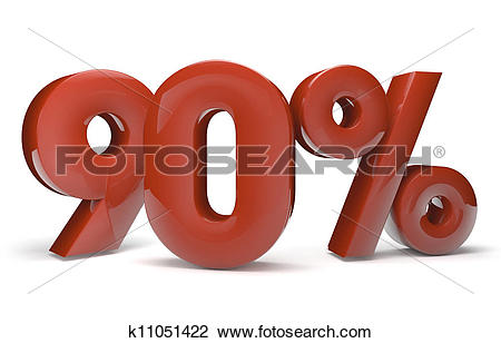 Clip Art of 90 percent k11051422.