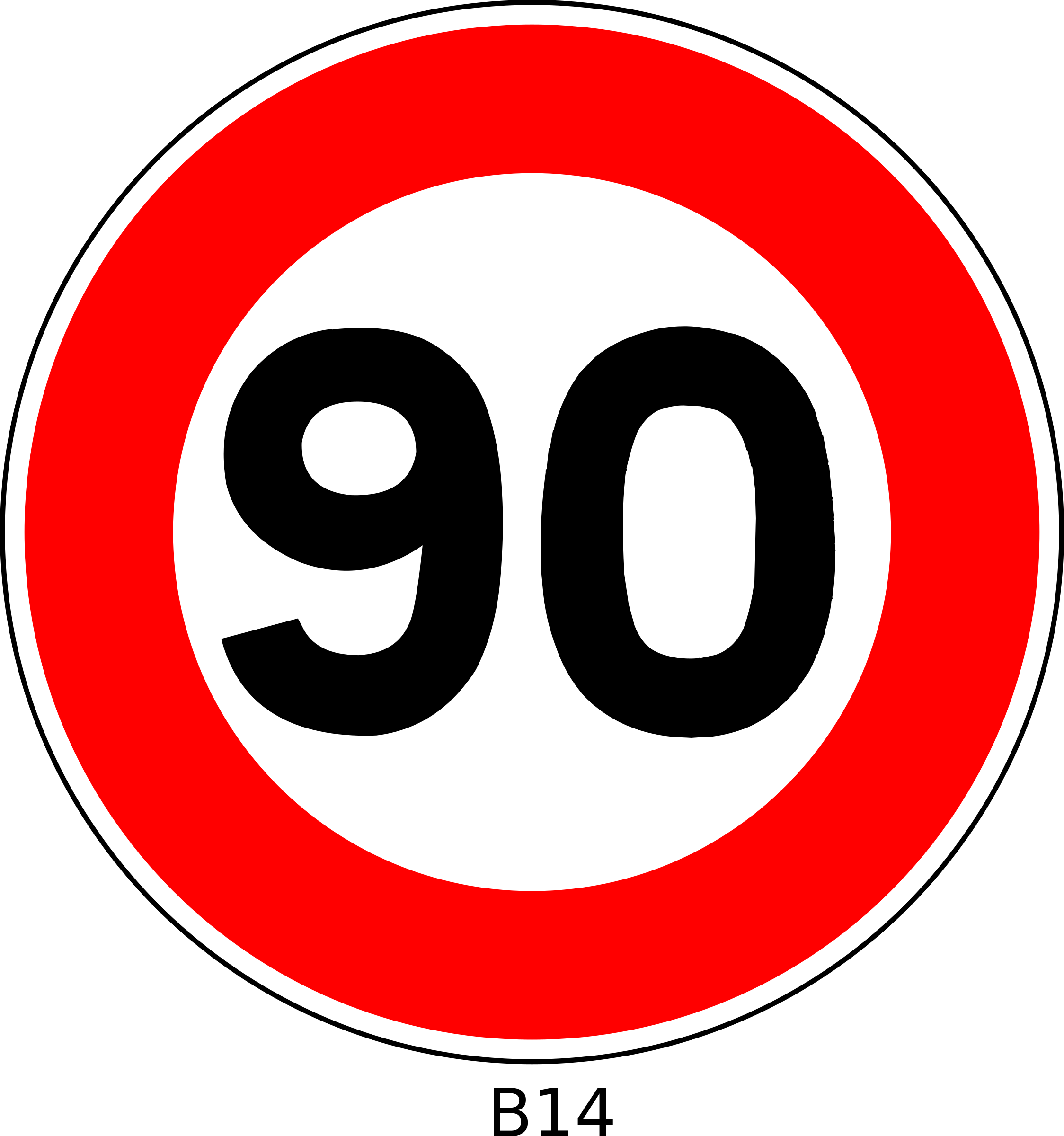 Number 90 Clipart.