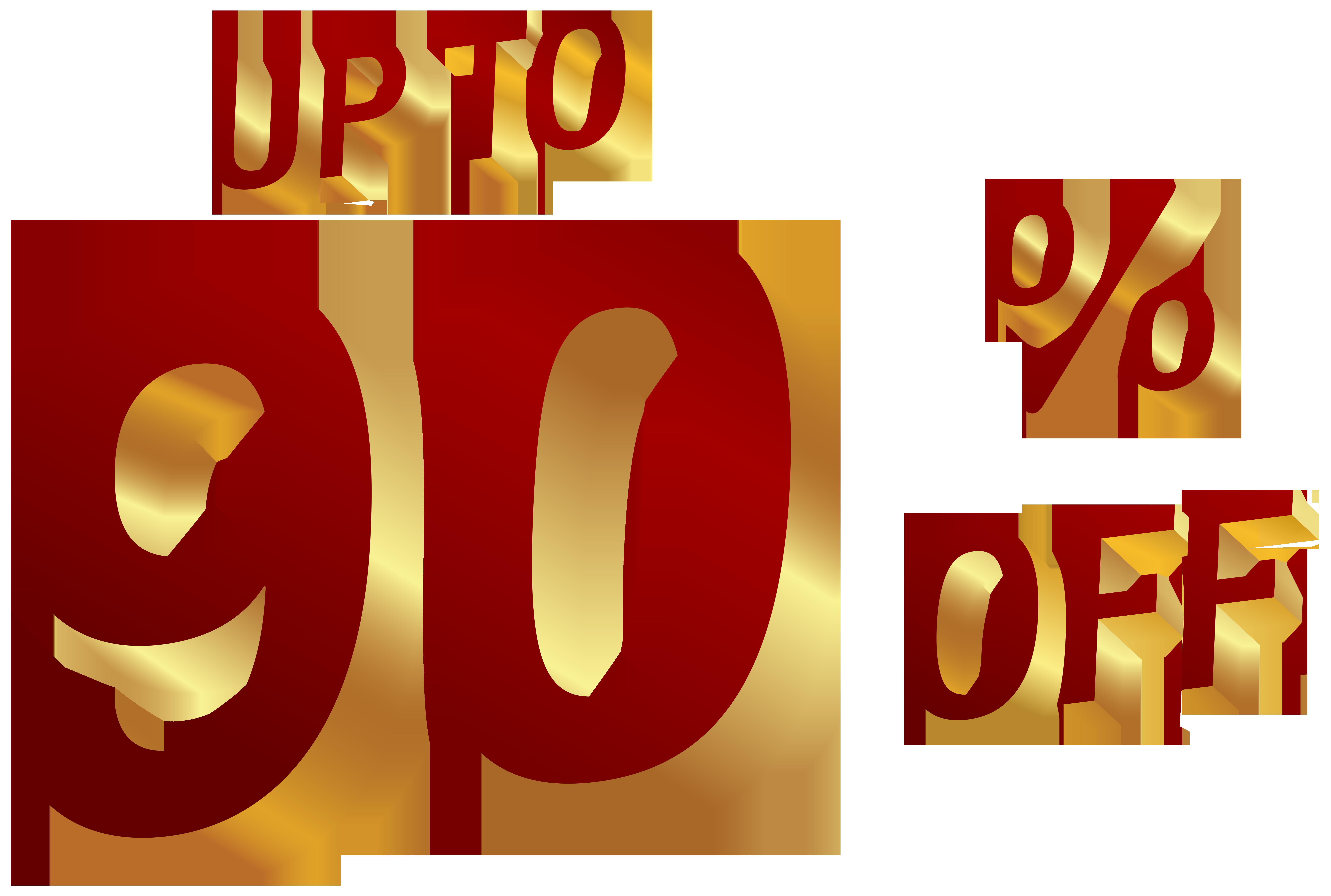90 Percent Discount Clip Art Image.