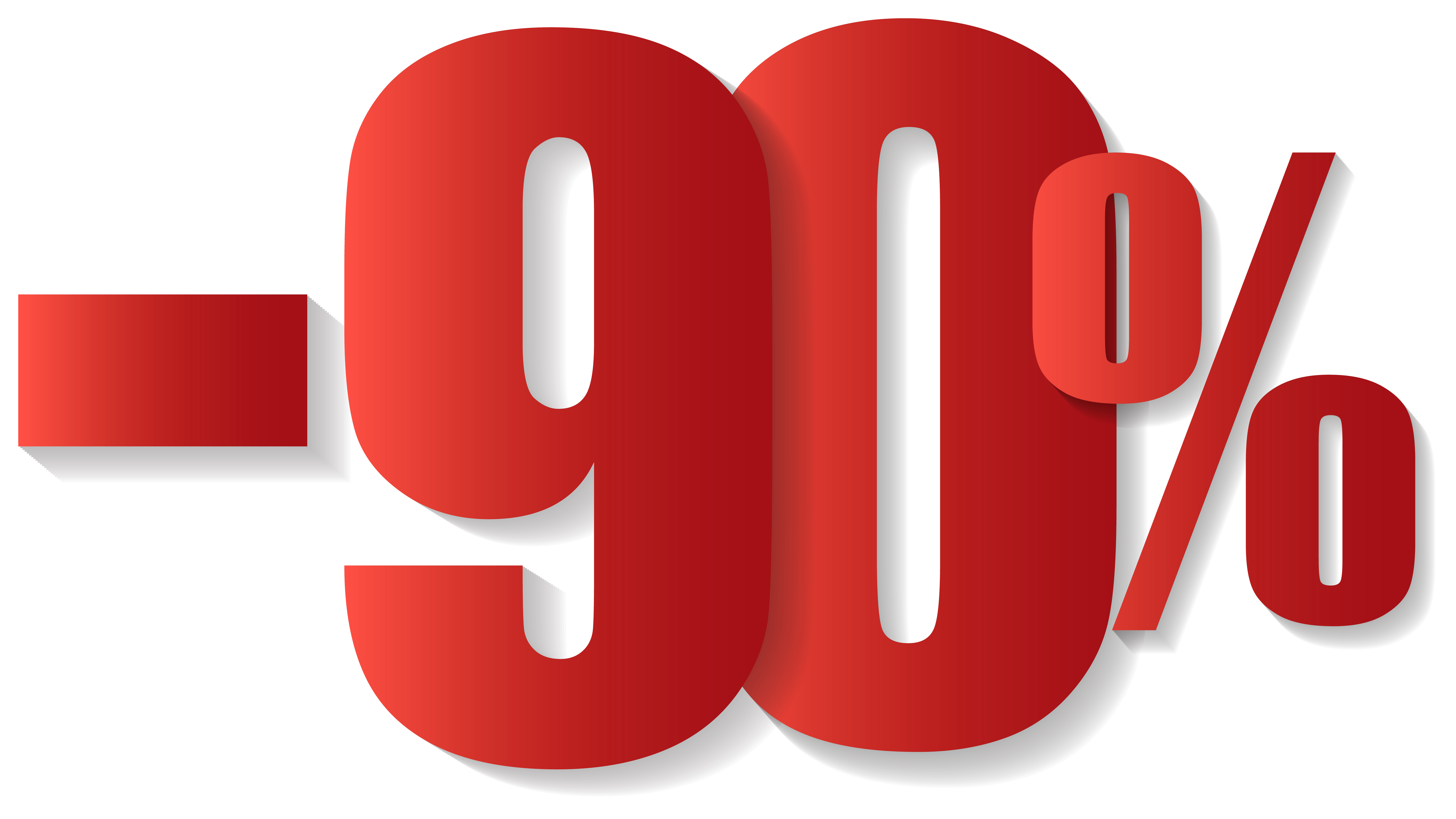 90% Off Sale PNG Clipart Image.