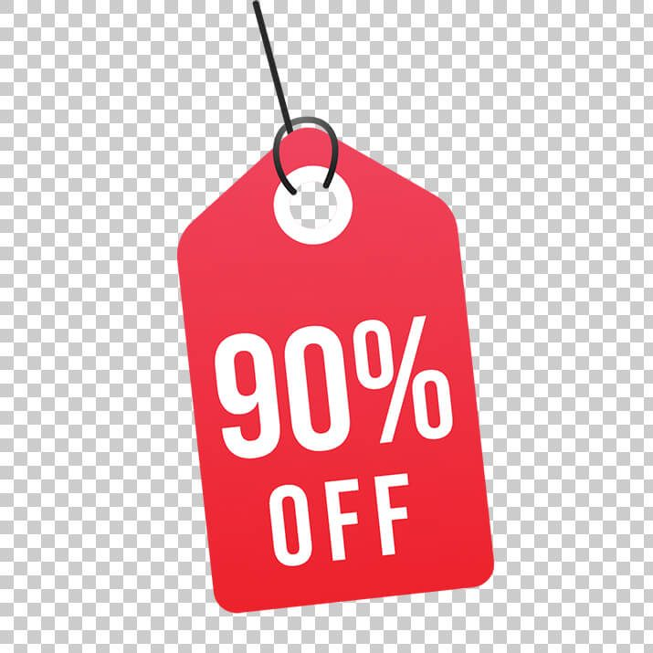 90 Percent Off Sale Tag PNG Image Free Download Searchpng.com.