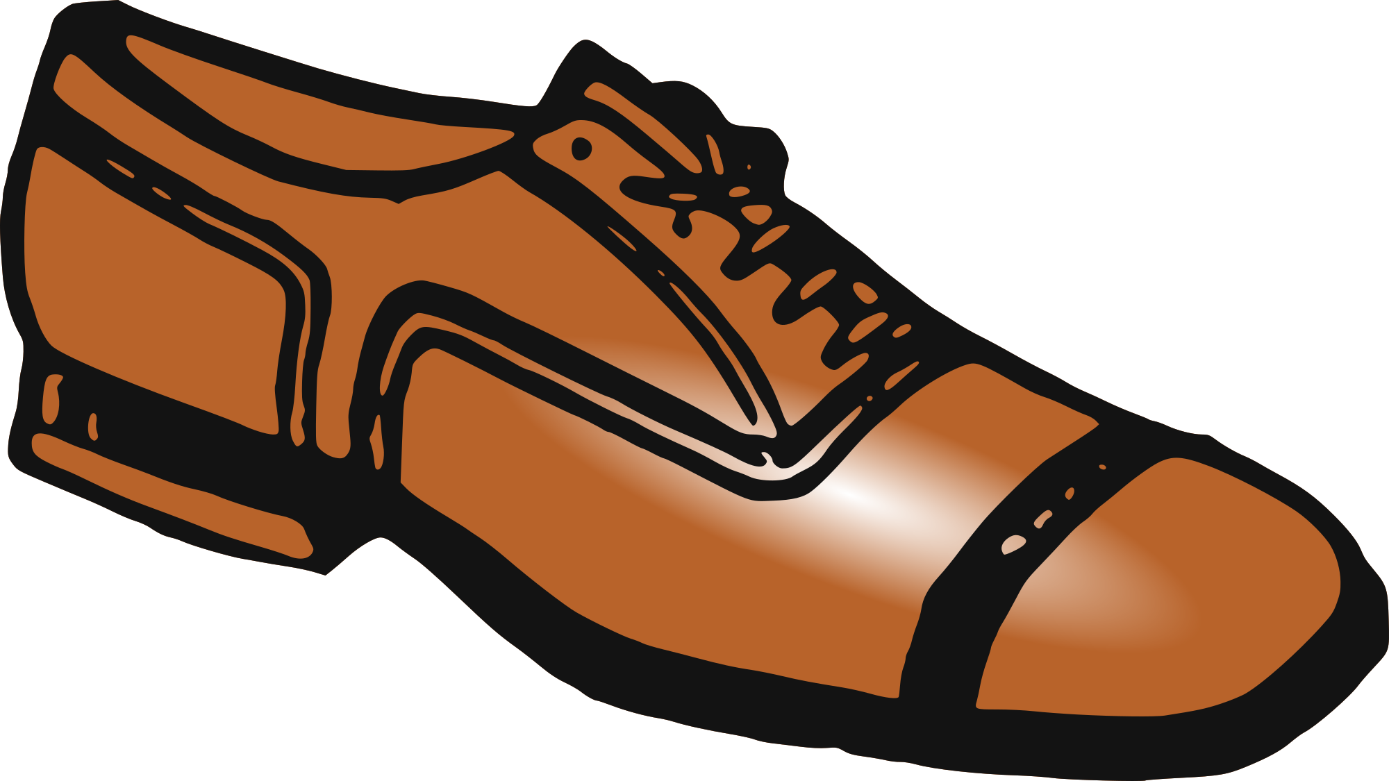 Men Shoes Clipart.