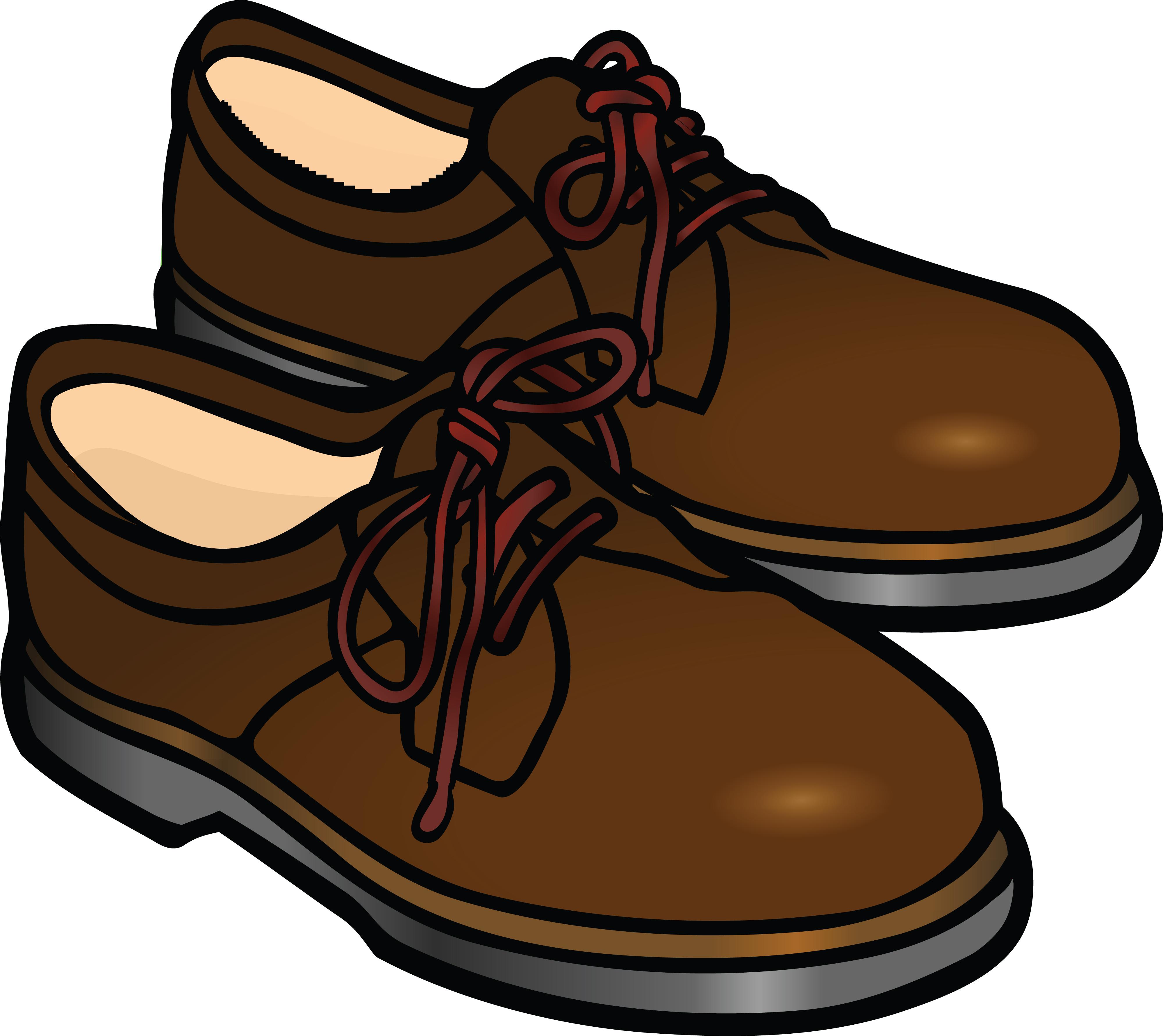 Men Shoes Clipart.