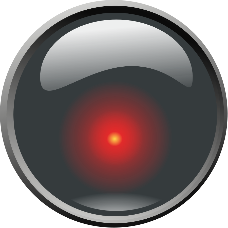 Hal 9000 Lens SVG Vector file, vector clip art svg file.