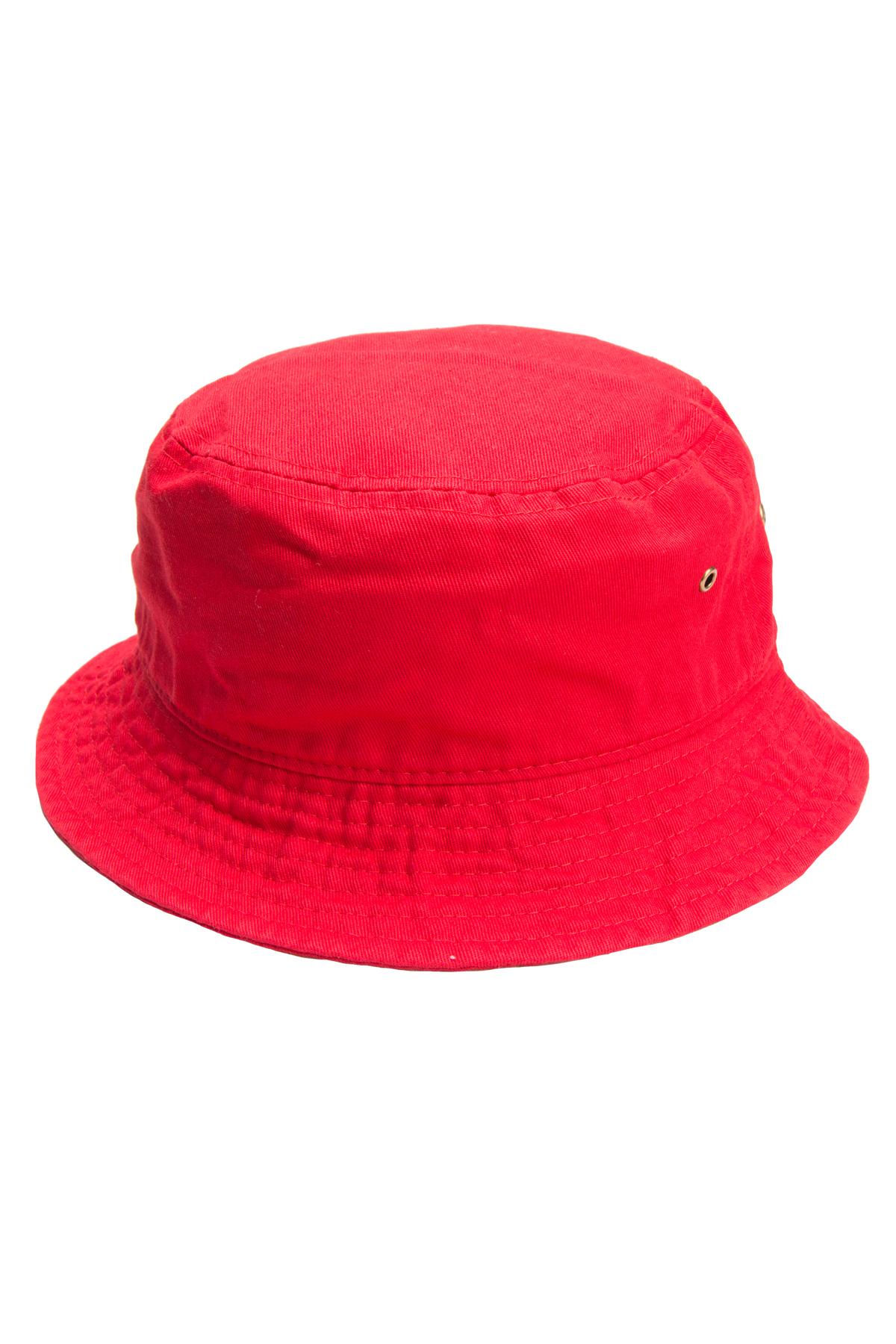 Red Bucket Hat.