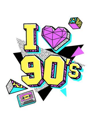 90s Stock Vector Illustration And Royalty Free 90s Clipart.