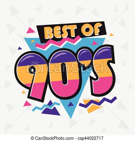 Party time The 90's style label. Vector illustration..
