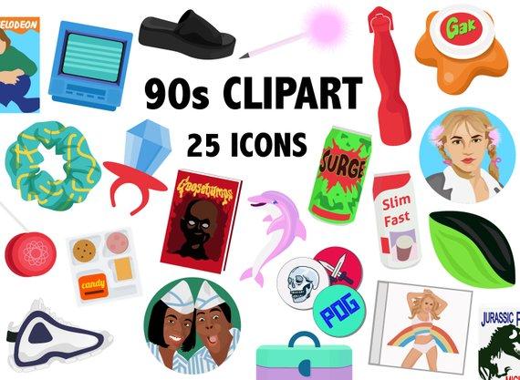 90'S ERA CLIPART.