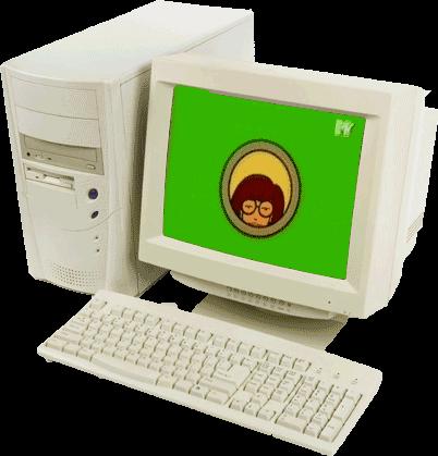 90s clipart desktop computer, 90s desktop computer.