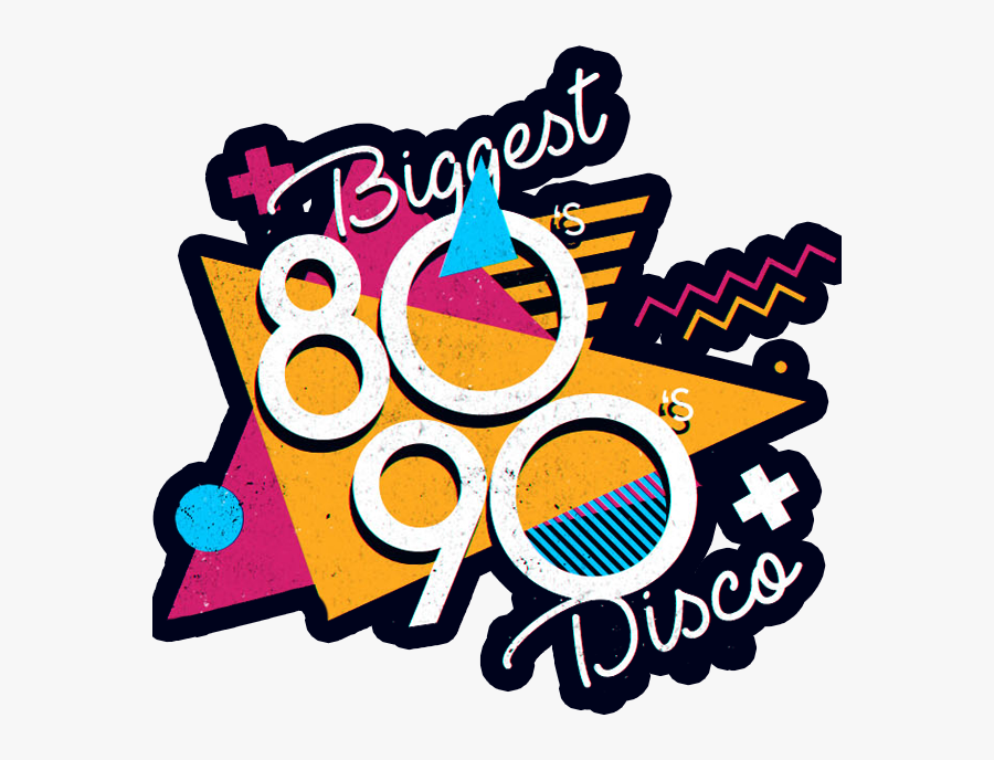 Biggest 80s 90s Disco Dublin Clipart , Png Download.
