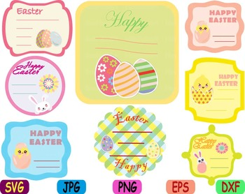 Easter bunny Labels clip art svg Frame tags label Greeting card baby shower.
