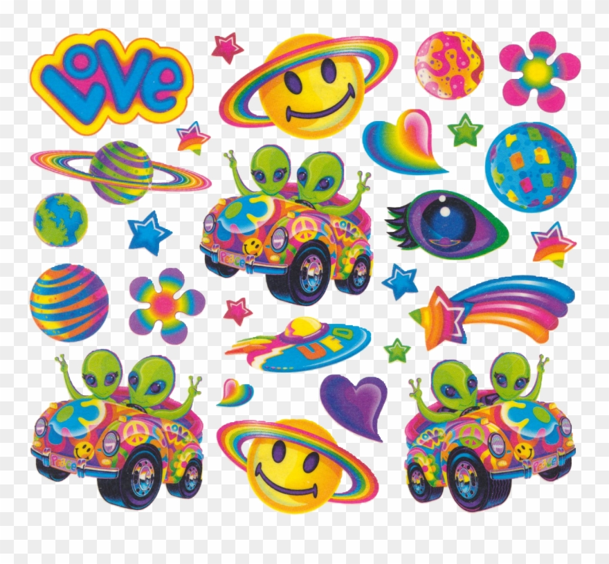 Lisa Frank 90s Stickers Clipart (#1465298).