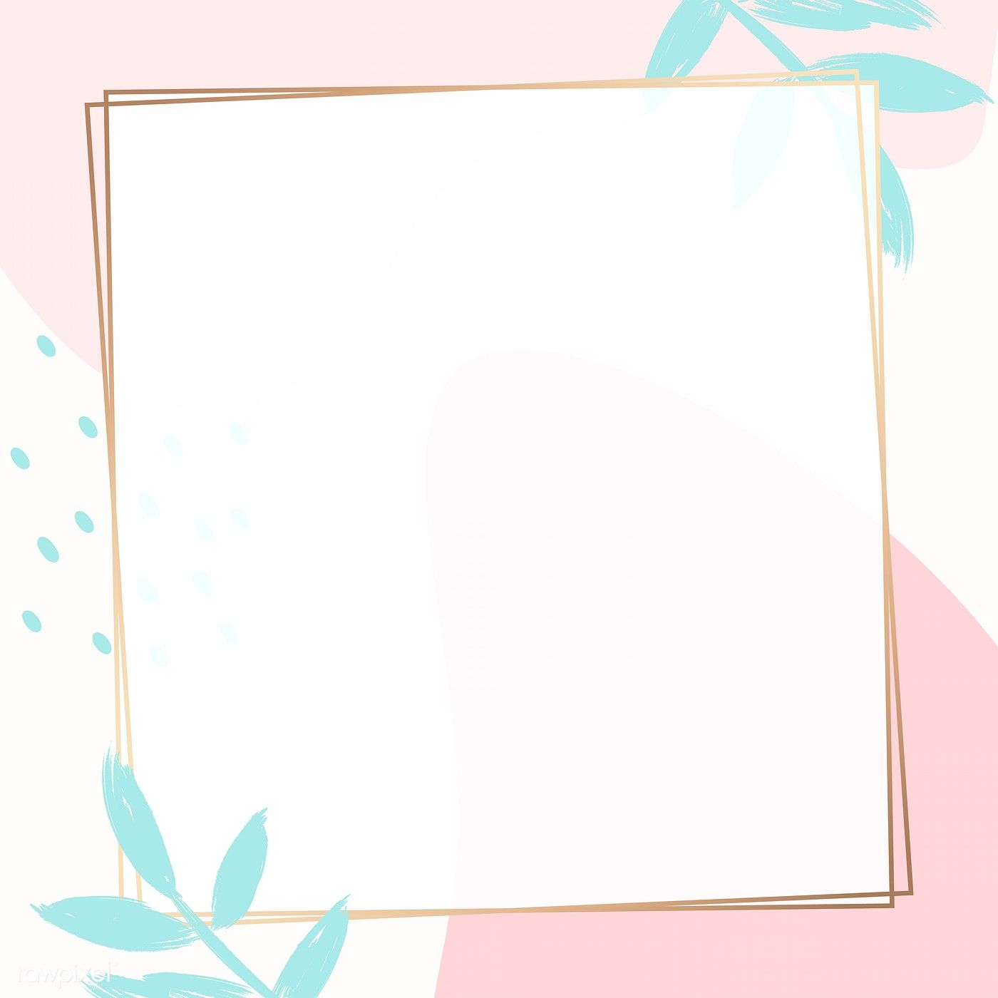 Download premium vector of Square golden frame on a colorful.
