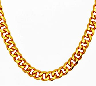 Amazon.com: TUOKAY Direct 18K Big Gold Chain Necklace, 13mm.