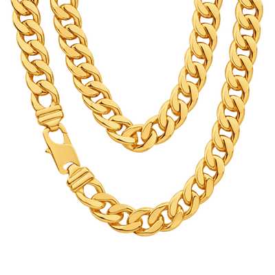 Thug Life Real Gold Chain transparent PNG.