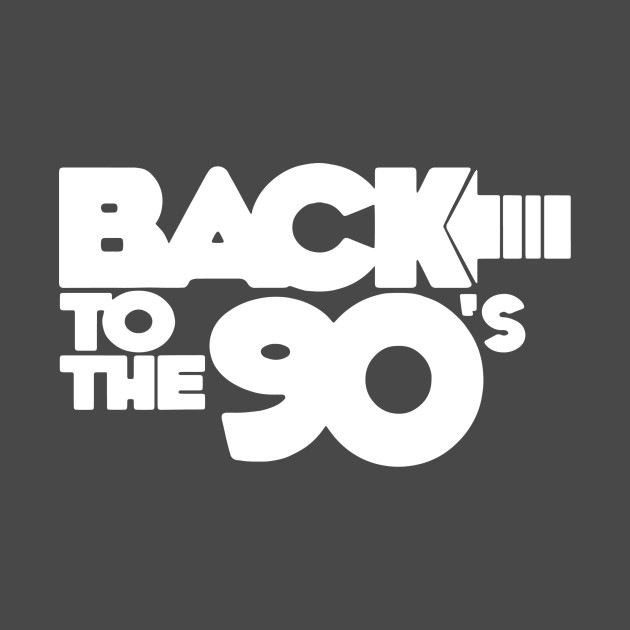 BACK TO THE 90s FUNNY LOGO.